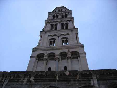 Famous bell tower st. Domninus Cathedral