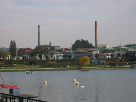 View from Ada on old Sugar Factory