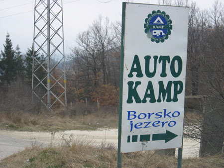 Autokamp, camping with a car.